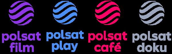 Polsat Film, Polsat Play, Polsat Cafe, Polsat Doku nowe logo