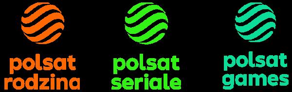 Polsat Rodzina, Polsat Serial, Polsat Games nowe logo